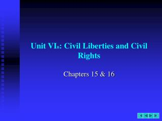 Unit VIB: Civil Liberties and Civil Rights