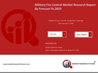 Military Fire Control System Market Research Report – Forecast to 2023