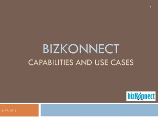 capabilities and use cases - Bizkonnect