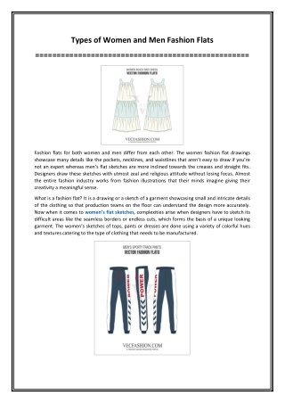 Types of Women and Men Fashion Flats