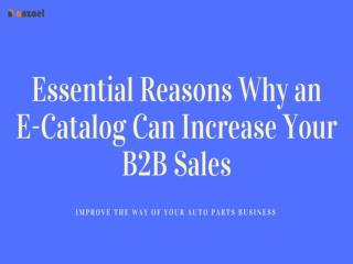 Essential Reasons Why an E-Catalog Can Increase Your B2B Sales