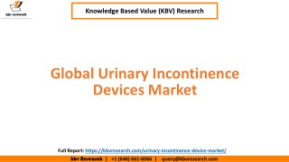 Global Urinary Incontinence Devices Market Size and Market Share