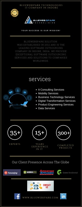 Mobile App Development Company | Bluewebspark Technologies | IT Company in Indore