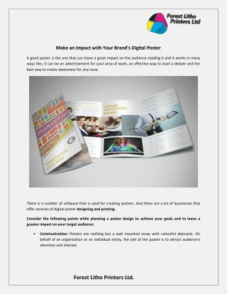 Make an Impact with Your Brand's Digital Poster