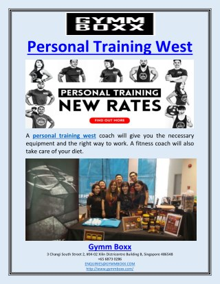Personal Training West