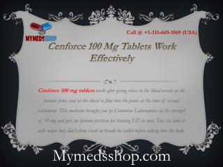Cenforce 100 Mg Tablets Work Effectively