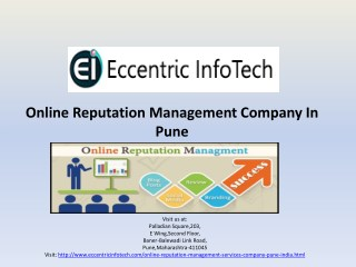 Online Reputation Management Company, Services in India - Eccentric Infotech