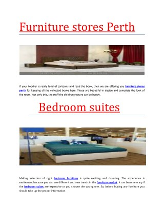 furniture stores perth