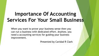 Importance Of Accounting Services For Your Small Business