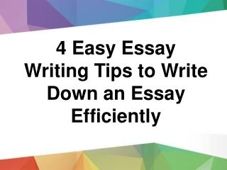 Best and Attractive 6 Essay Writing Tips