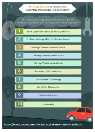 Top 10 Qualities of a Professional Mechanic in Box Hill, Blackburn and Canterbury