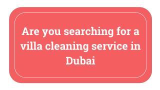 Villa cleaning services in Dubai | Al Hud Hud
