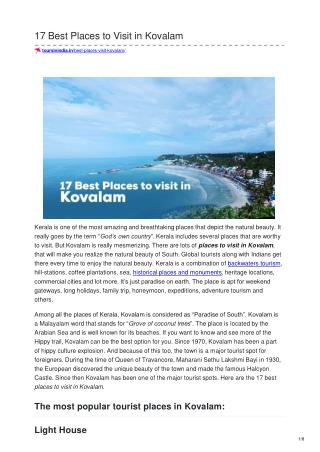 17 BEST PLACES TO VISIT IN KOVALAM