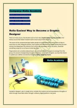 Rolla Easiest Way to Become a Graphic Designer