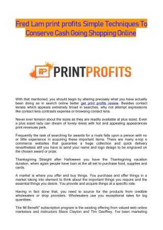 Best Print Profits E-commerce Tips