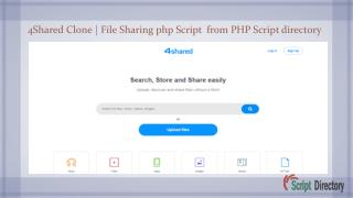 Post your File Sharing php Script demo links in php script directory