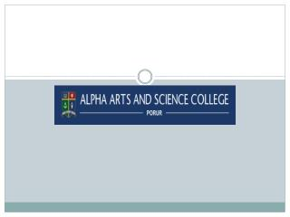 Alpha Arts and Science College - Chennai