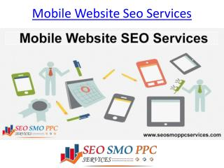 mobile website seo services