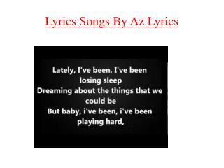 Lyrics Songs By Az Lyrics