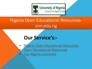 Nigeria Open Educational Resources- unn.edu.ng