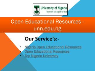 Open Educational Resources - unn.edu.ng