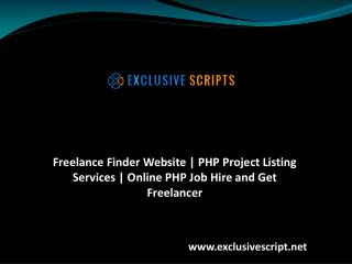 Freelance Finder Website | PHP Project Listing Services | Online PHP Job Hire and Get Freelancer