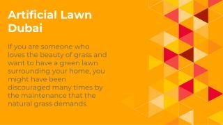 Artificial Lawn Dubai