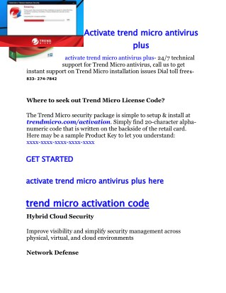 trend micro antivirus plus activation