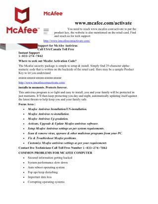 mcafee.com activation