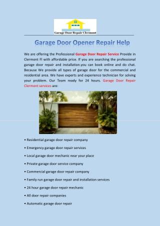 Garage door repair clermont   Garage Door Opener