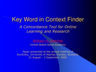 Key Word in Context Finder