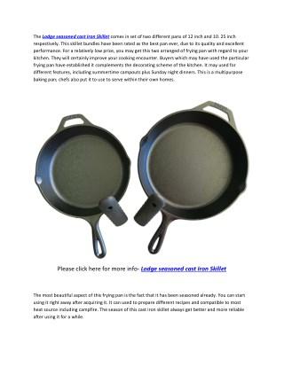 "Lodge seasoned Cast Iron Skillet Bundle, 12"" and 10.25"" (Set of 2) Cast Iron Frying pan"