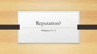 Philippians 2:1-13 (2017) Sermon Slides