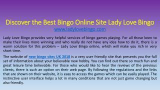 Discover the Best Bingo Online Site Lady Love Bingo