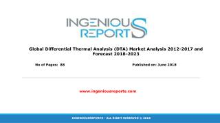 Global and Europe Differential Thermal Analysis (DTA) Market 2018 Industry Analysis and Forecast to 2023