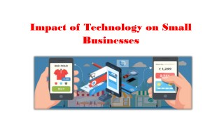 Impact of Technology on Small Businesses