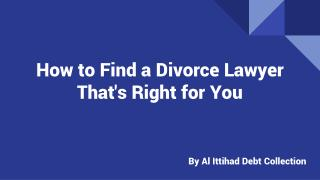 Professional Divorce Lawyers in UAE | Al Ittihad Debt Collection