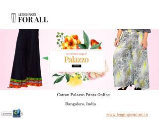 Cotton Palazzo Pants Online