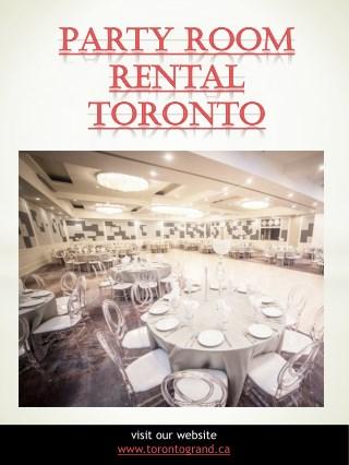 Party Room Rental Toronto