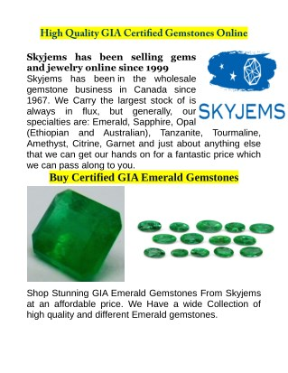 Buy GIA Certified Gemstones At Wholesale Price