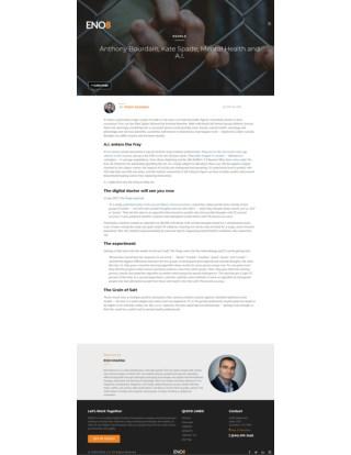 Anthony Bourdain, Kate Spade, Mental Health and A.I.