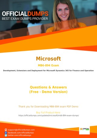 100% Success Guarantee with MB6-894 Exam dumps - Get Valid Microsoft MB6-894 Exam Questions