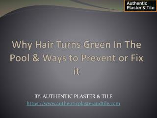 Why Hair Turns Green In The Pool & Ways to Prevent or Fix it