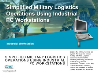 Simplified Military Logistics Operations Using Industrial PC Workstations