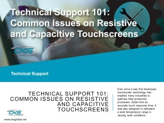 Technical Support 101: Common Issues on Resistive and Capacitive Touchscreens
