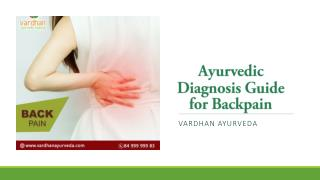 Ayurvedic Diagnosis Guide for Backpain