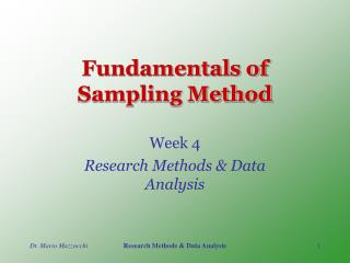 Fundamentals of Sampling Method