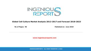 Global Cell Culture Market Size, Segmentation, Trends, Growth and Industry Forecast To 2023