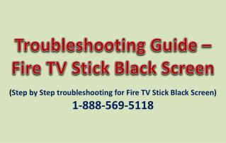 Troubleshooting Guide - How to Fix Fire TV Black Screen?