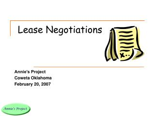 Lease Negotiations